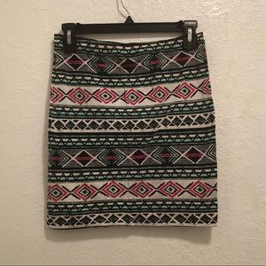 Divided H&M Printed Mini Pencil Skirt